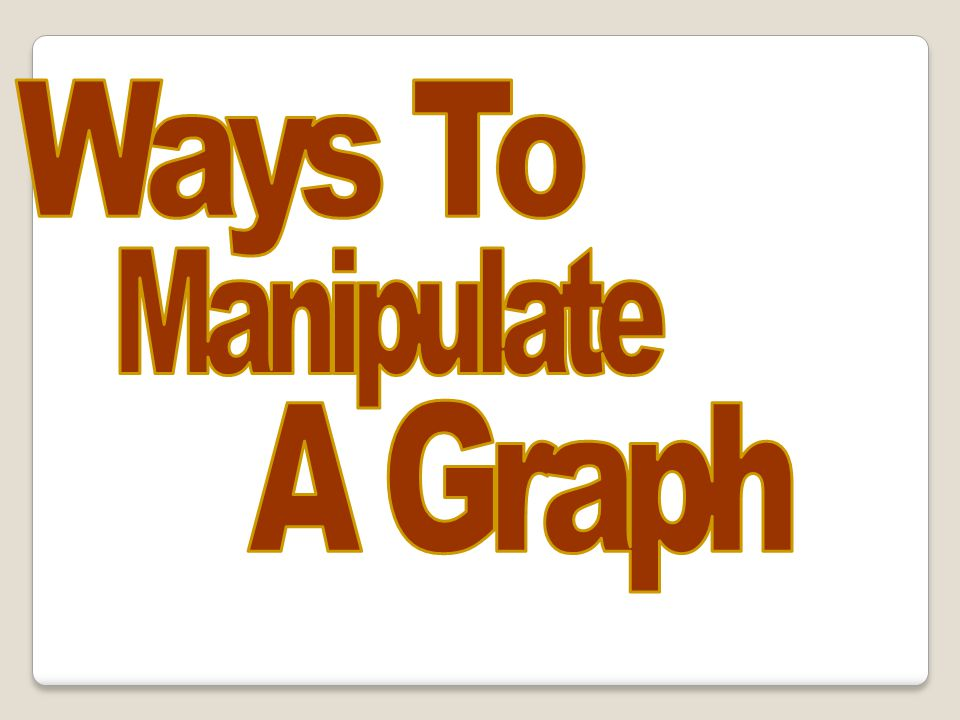 Ways To Manipulate A Graph 68