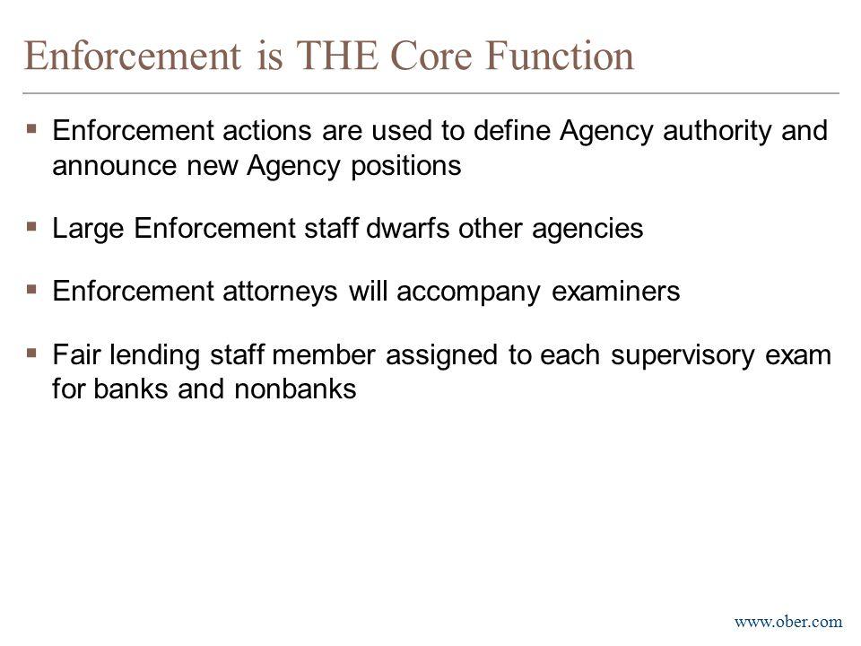 Enforcement is THE Core Function