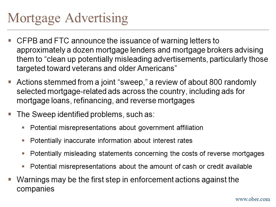 Mortgage Advertising