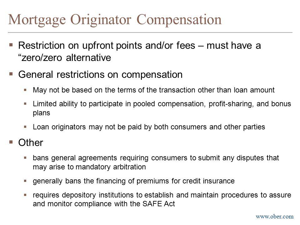 Mortgage Originator Compensation