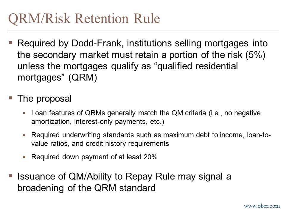 QRM/Risk Retention Rule