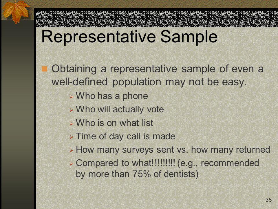 Representative Sample