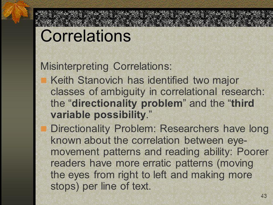 Correlations Misinterpreting Correlations: