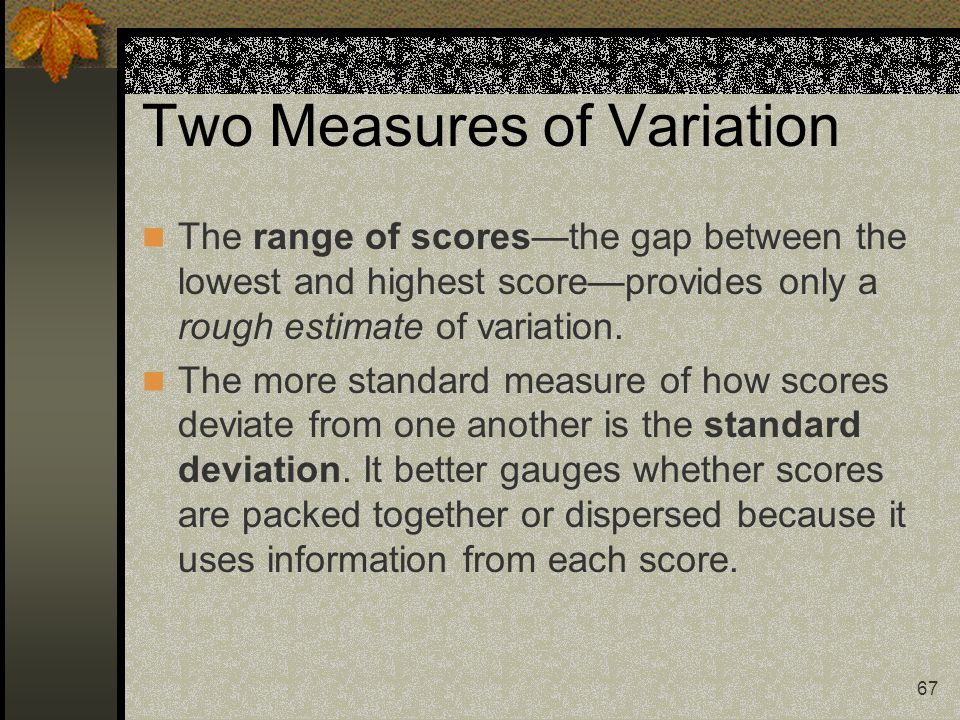 Two Measures of Variation