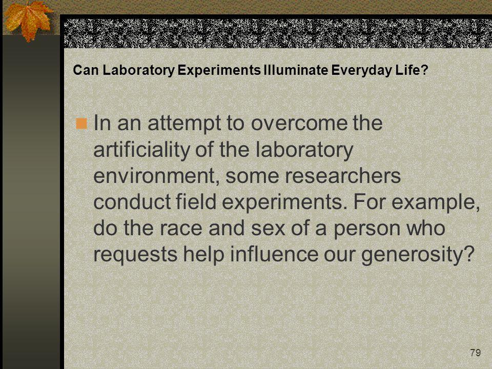Can Laboratory Experiments Illuminate Everyday Life