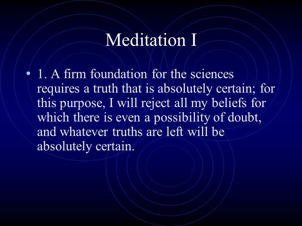 Meditation I
