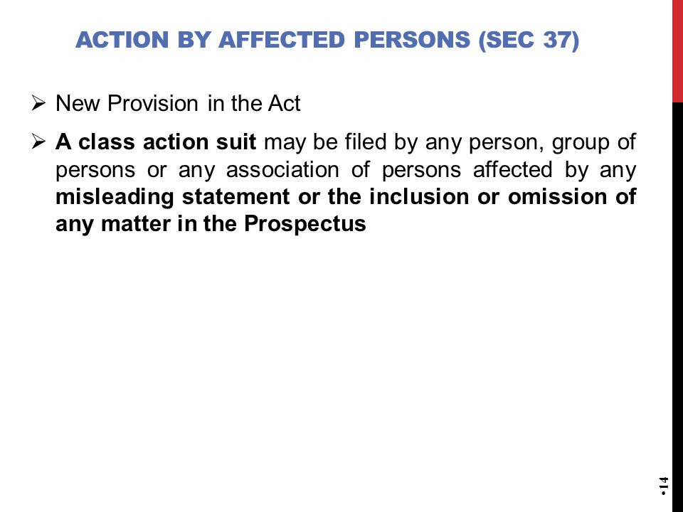 Action by affected persons (Sec 37)