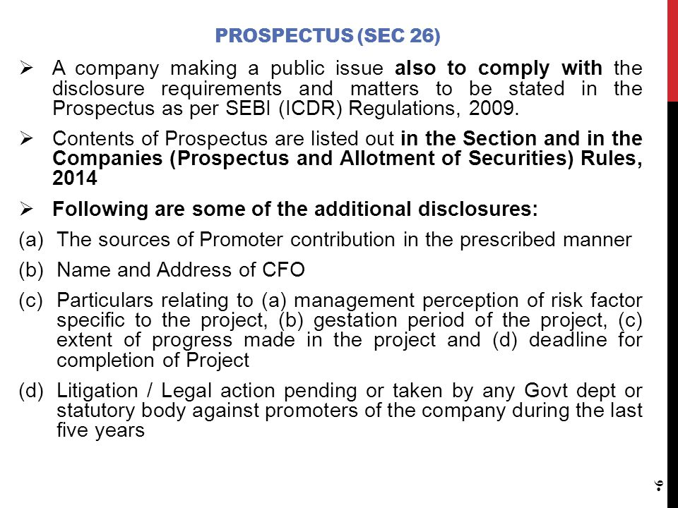 Following are some of the additional disclosures: