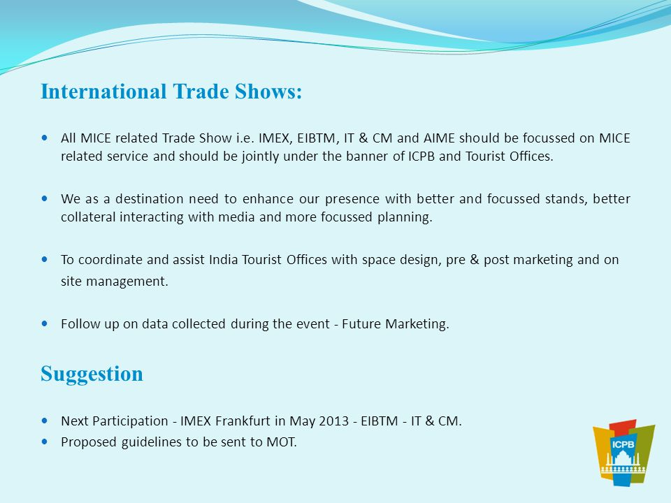 International Trade Shows: