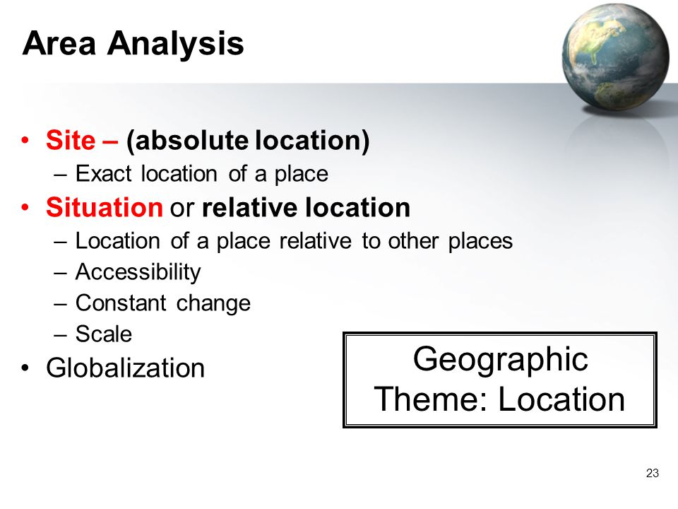 Geographic Theme: Location
