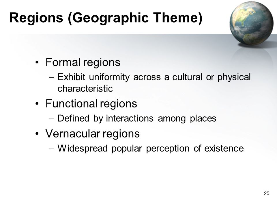 Regions (Geographic Theme)