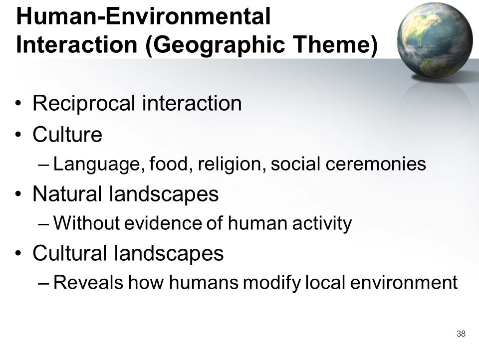 Human-Environmental Interaction (Geographic Theme)
