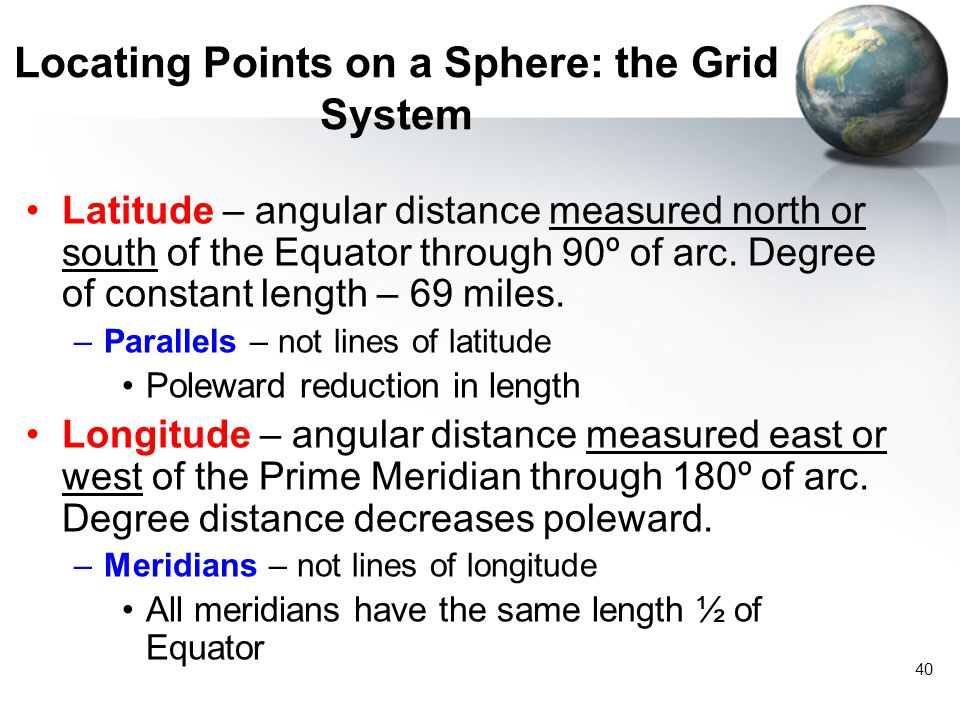 Locating Points on a Sphere: the Grid System
