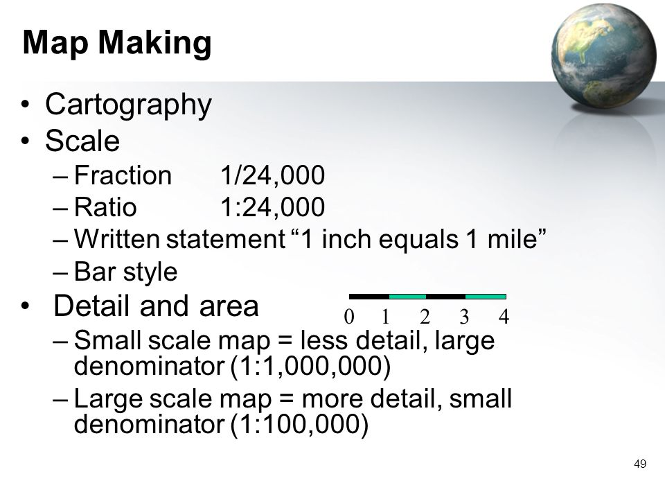 Map Making Cartography Scale Detail and area Fraction 1/24,000
