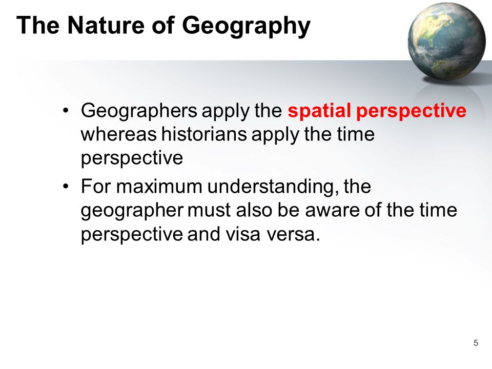 The Nature of Geography