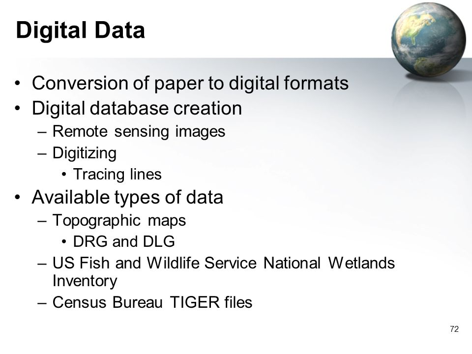 Digital Data Conversion of paper to digital formats