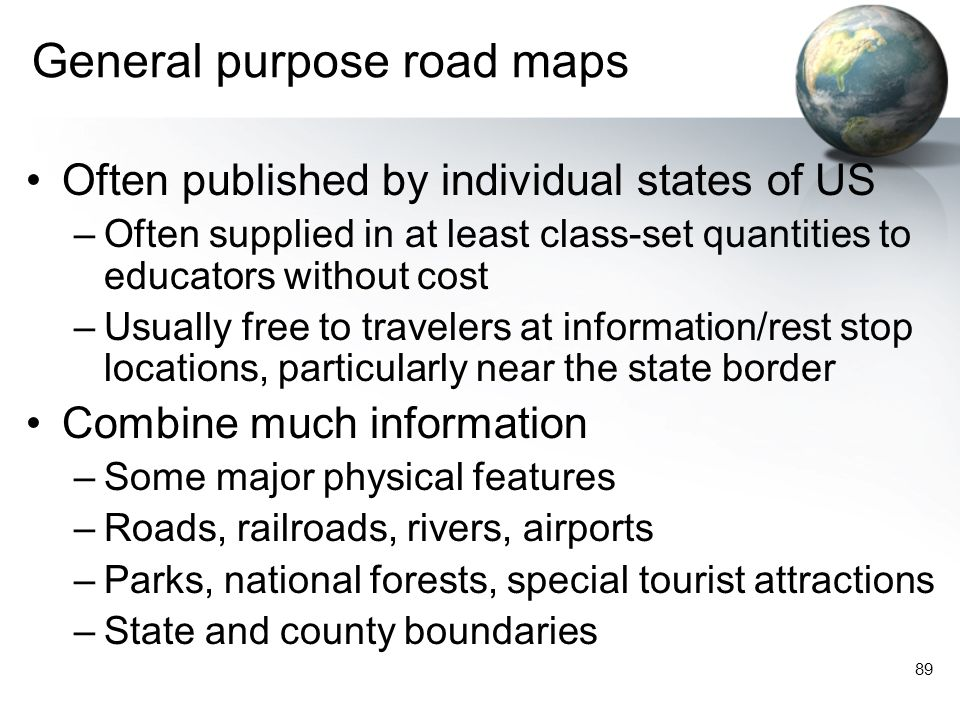 General purpose road maps