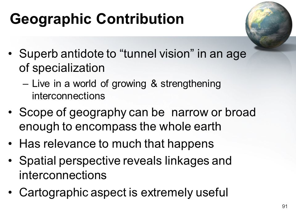 Geographic Contribution