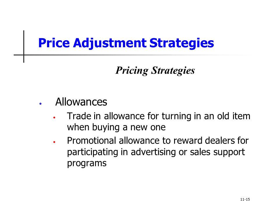 Price Adjustment Strategies