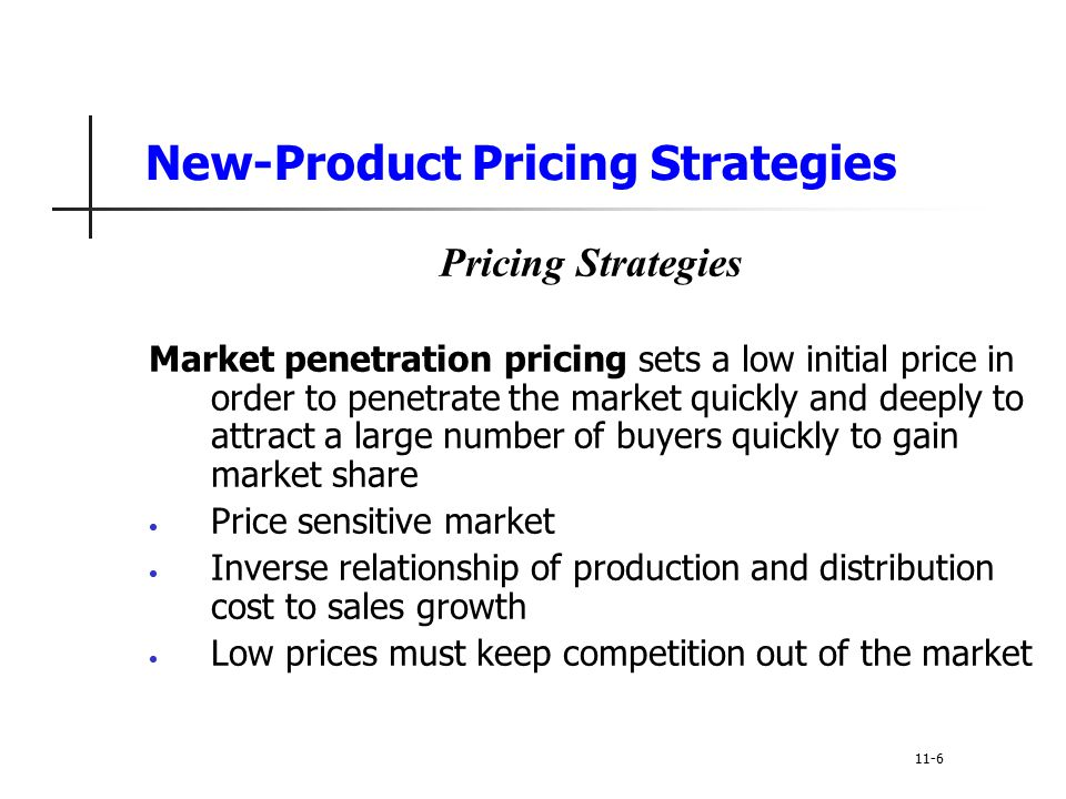 Penetration pricing strategy Milf glasses