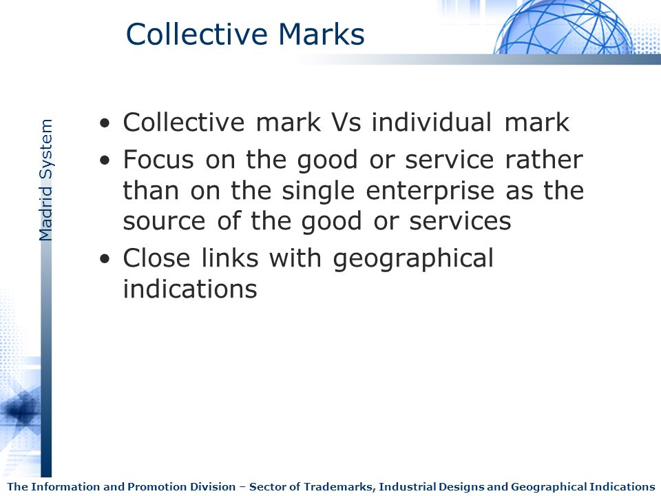 Collective Marks Collective mark Vs individual mark