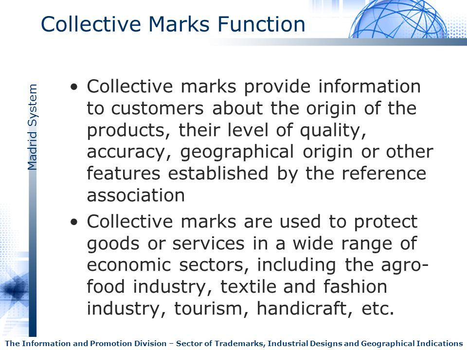 Collective Marks Function