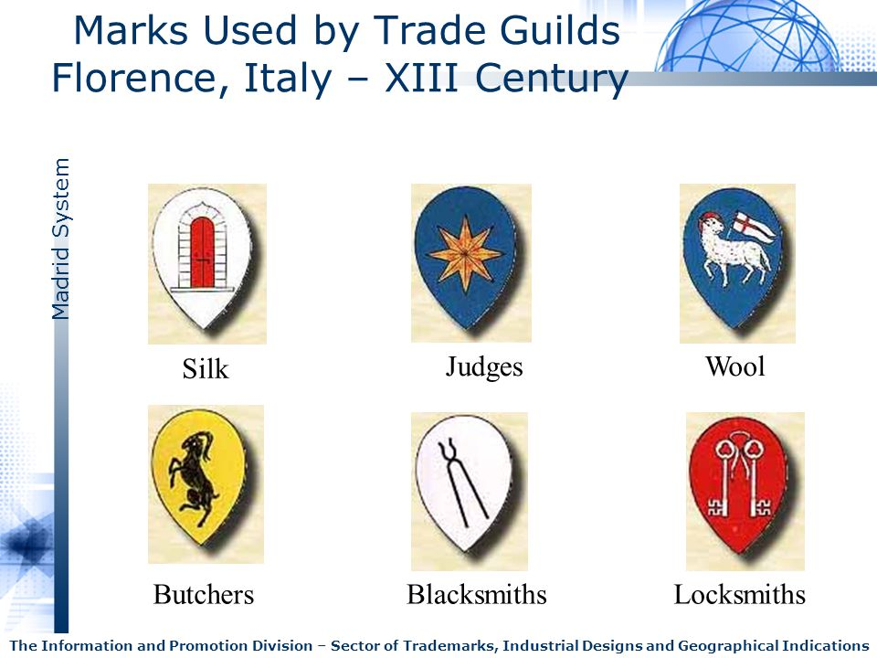 Marks Used by Trade Guilds Florence, Italy – XIII Century