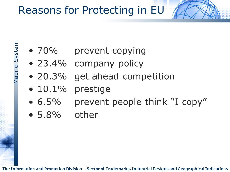 Reasons for Protecting in EU