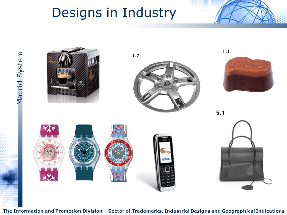 Designs in Industry The Information and Promotion Division – Sector of Trademarks, Industrial Designs and Geographical Indications.