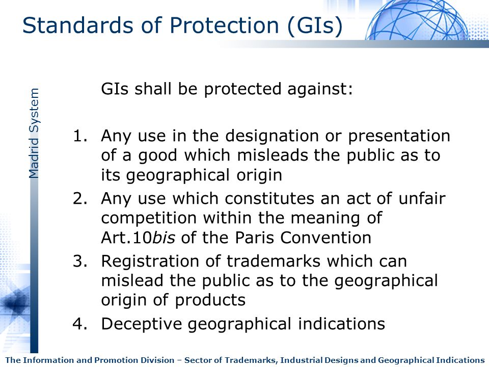 Standards of Protection (GIs)