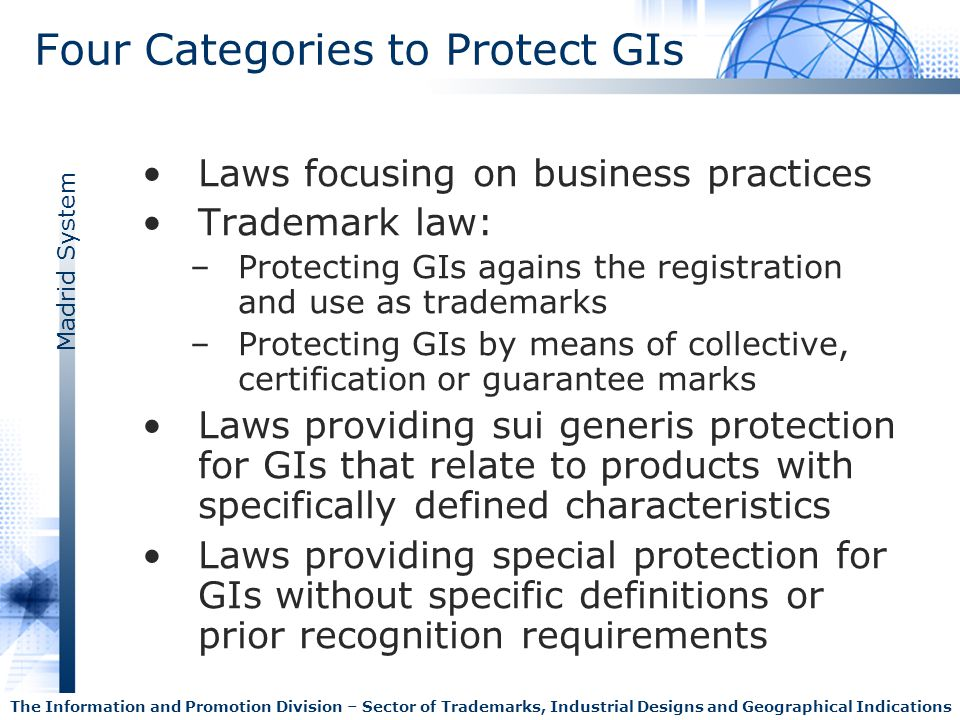 Four Categories to Protect GIs