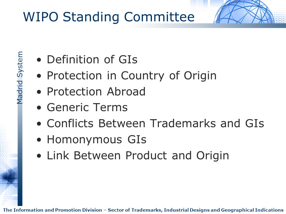 WIPO Standing Committee