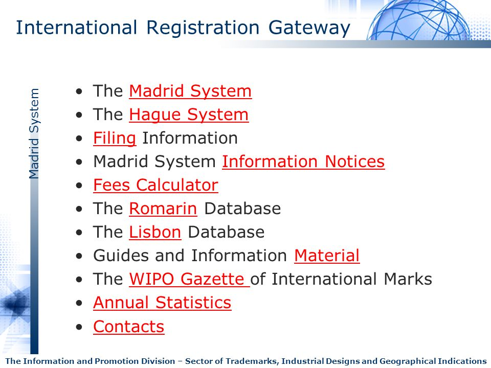 International Registration Gateway