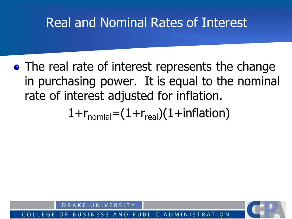 Real and Nominal Rates of Interest