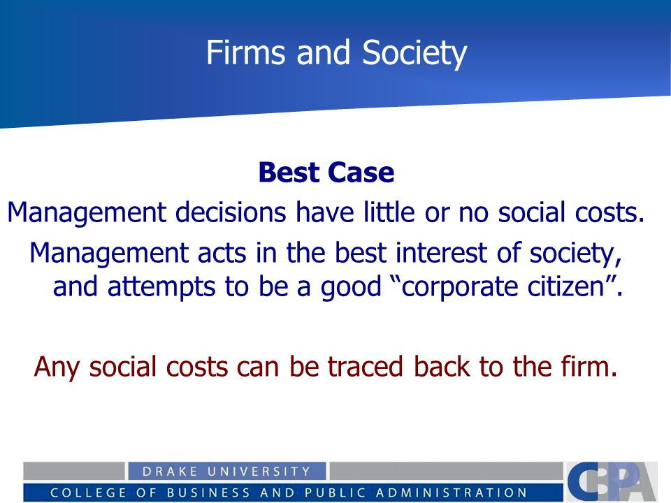 Firms and Society Best Case