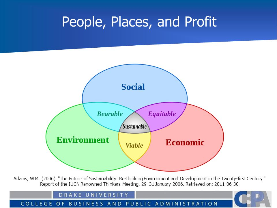 People, Places, and Profit