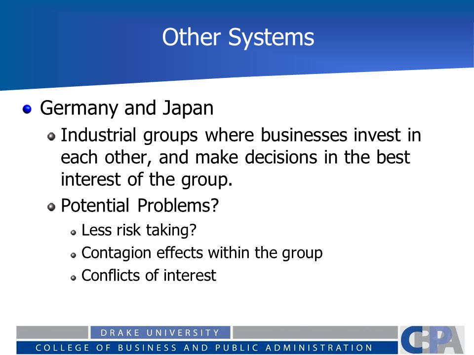 Other Systems Germany and Japan