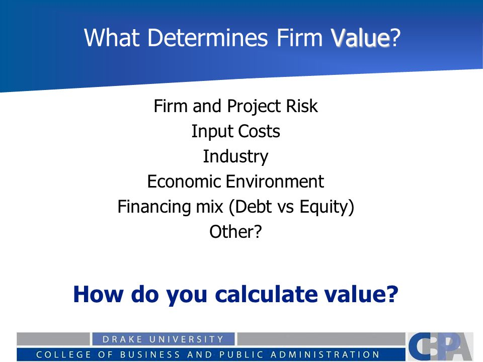 What Determines Firm Value