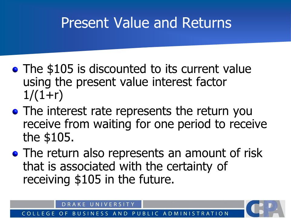 Present Value and Returns