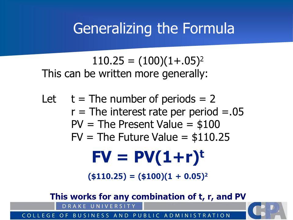 Generalizing the Formula