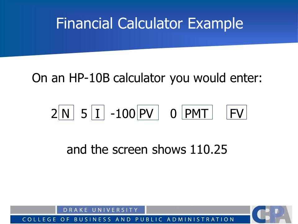 Financial Calculator Example