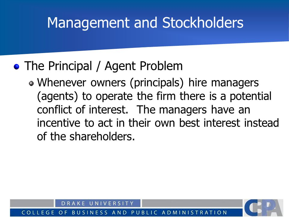 Management and Stockholders