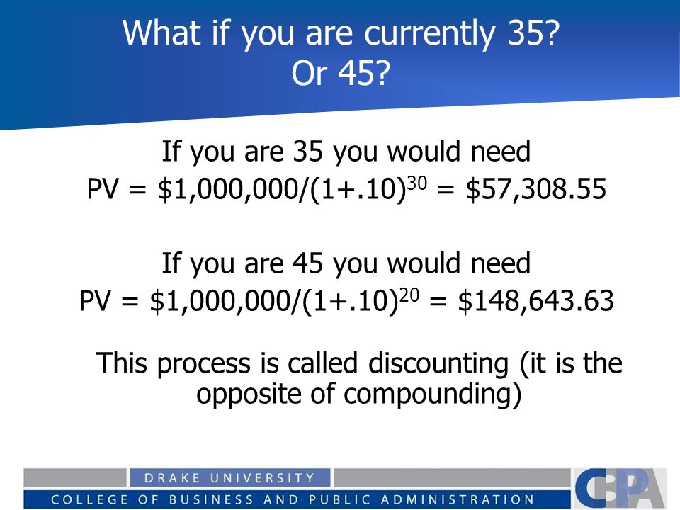 What if you are currently 35 Or 45
