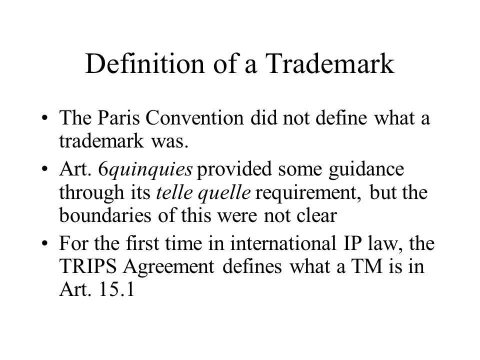 Definition of a Trademark