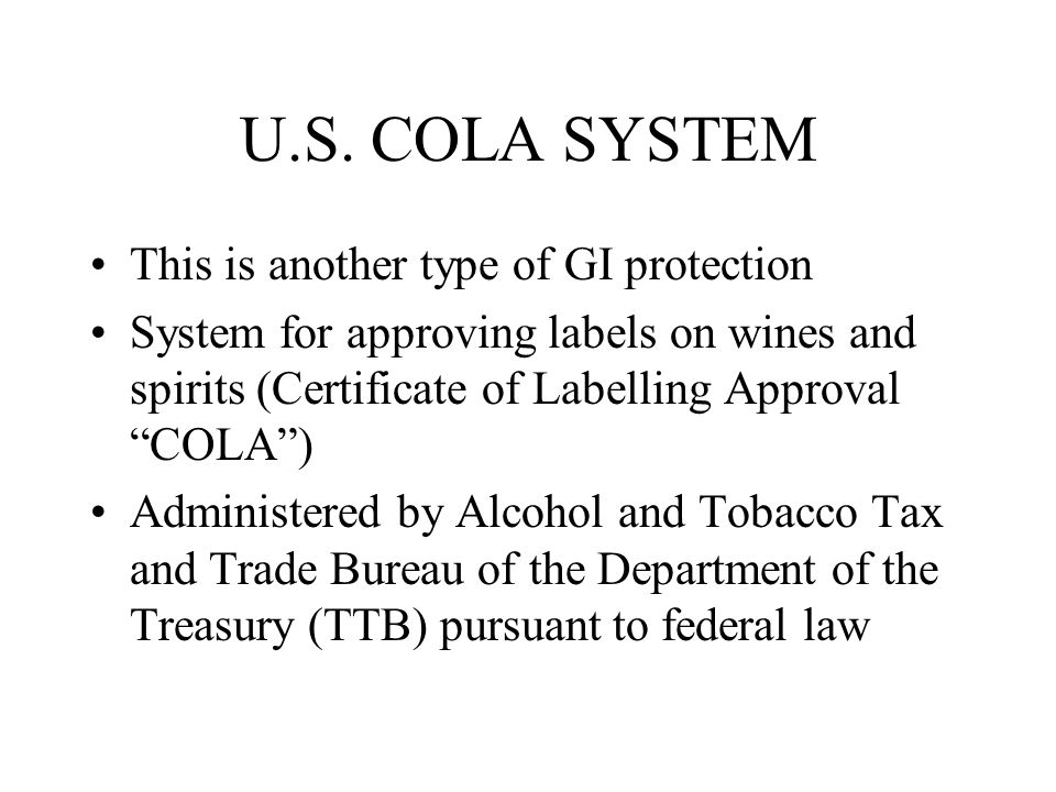 U.S. COLA SYSTEM This is another type of GI protection