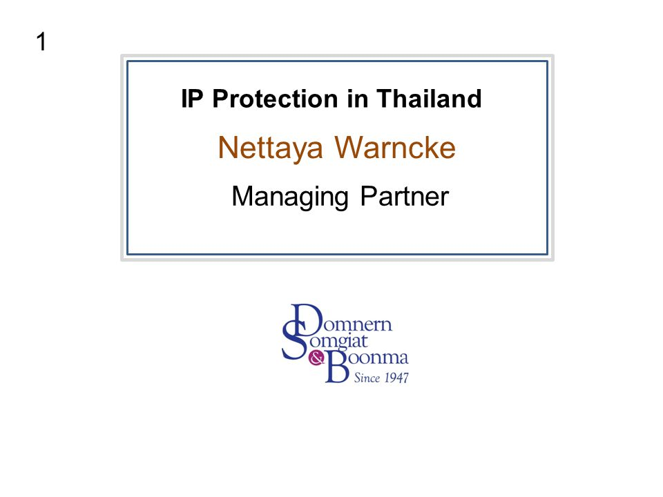 IP Protection in Thailand