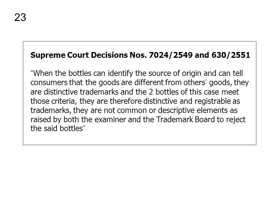 23 Supreme Court Decisions Nos. 7024/2549 and 630/2551