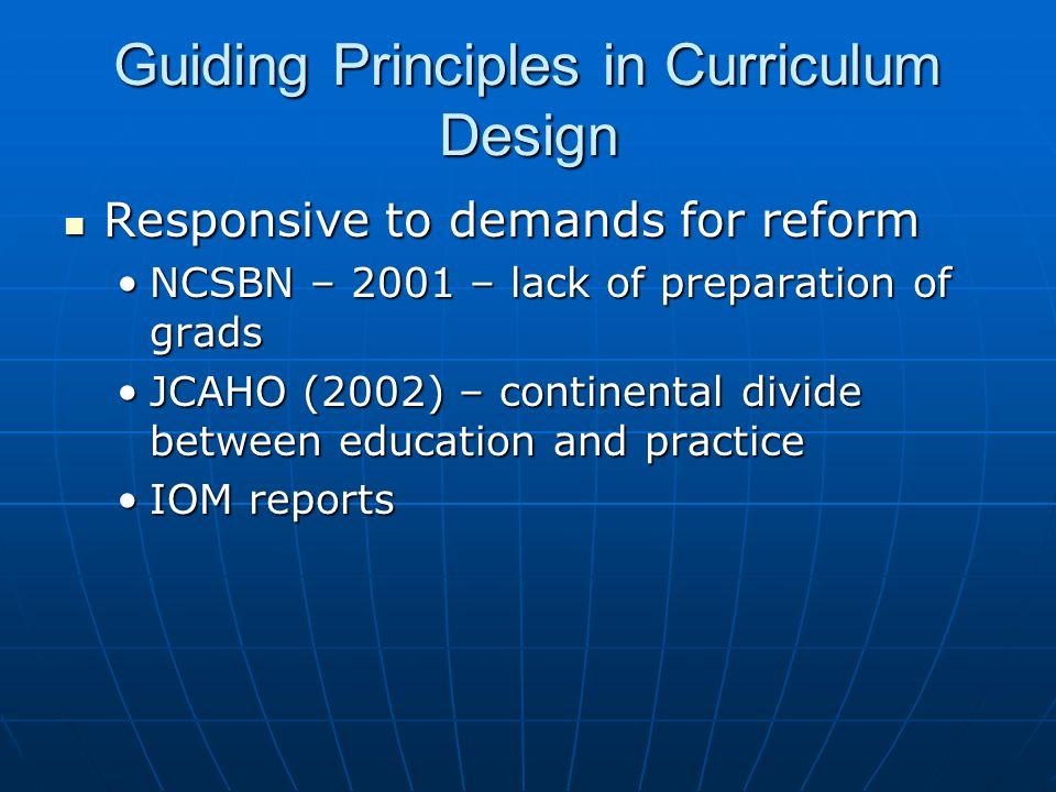 Guiding Principles in Curriculum Design