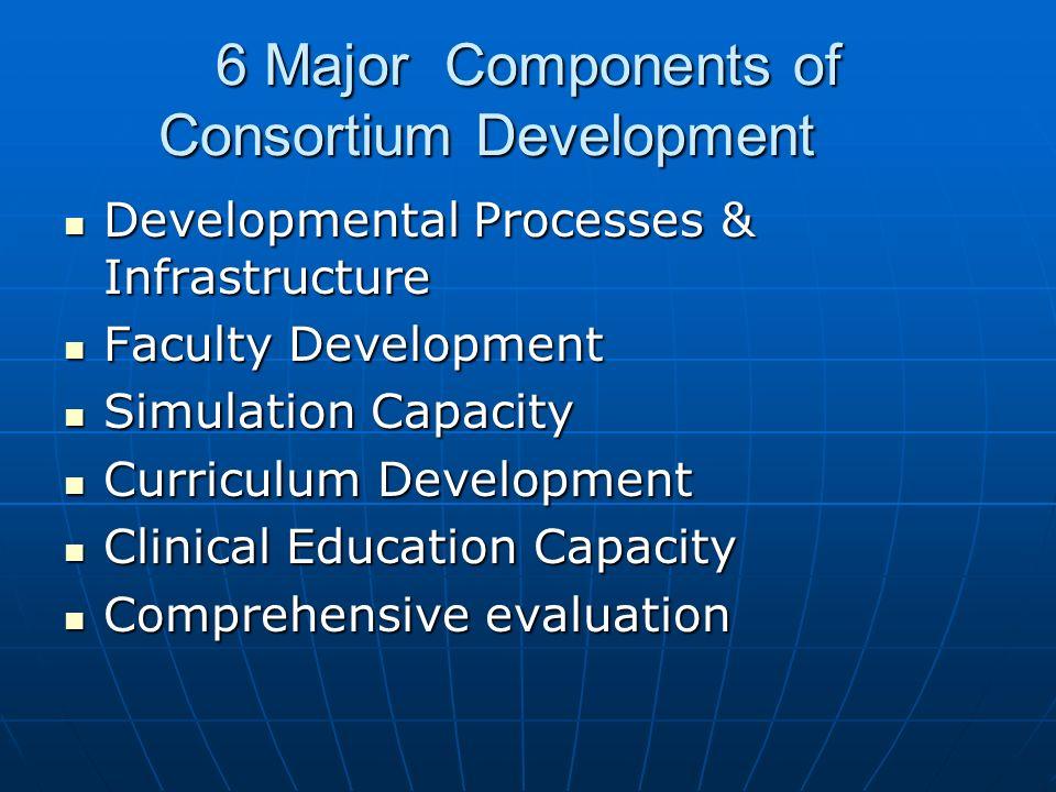 6 Major Components of Consortium Development