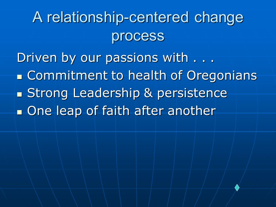 A relationship-centered change process
